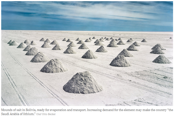 Mounds of salt in Bolivia photo